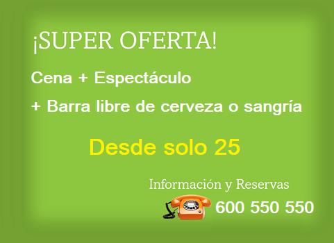 Cena de Empresa con Espectáculo y ¡Barra Libre!